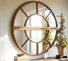 Arched Paned Mirror #potterybarn - another possible option for the base of the stairs -- you would need to purchase a set of 2 . . .