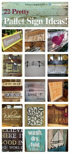 22 pallet signs