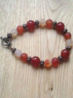 Carnelian chakra bracelet by JewelleryByJillian
