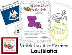 Come see Week 20 of the FREE US State Study of the Week Weekly Series and get your Louisiana themed Pack.