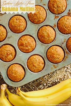 Southern Butter Pecan Muffins | A fun southern twist on a classic | Freezes beautifully