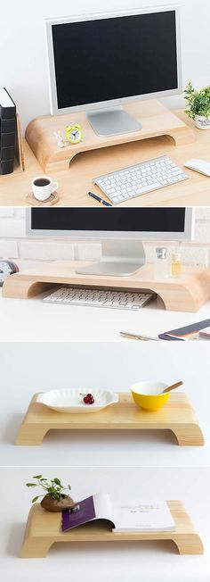 Wooden Unibody Monitor / iMac Stand