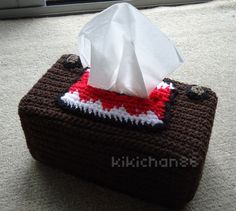 Domo-Kun tissue box - CROCHET
