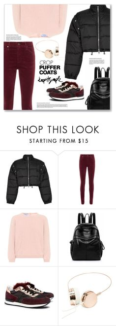 """""""Simple puffer coat"""" by liligwada ❤ liked on Polyvore featuring 3.1 Phillip Lim, AG Adriano Goldschmied, Prada, Pollini, Forever 21, casual, keepitsimple, coats, puffercoats and casualcoats"""