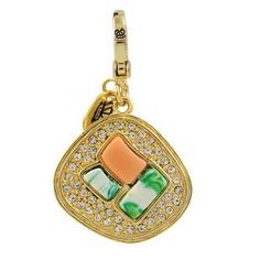 Juicy Couture Crystal Sushi Charm In Golden