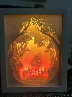 One Piece Anime paper cut Light box Night light от trysogodar