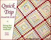 Quilt Pattern, Trip Around the World Quilt, Easy Quilt Pattern, Twin Quilt, Instant Download Quilt Pattern, qtm