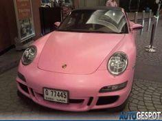 Oh Ya .... Pink Porshe Carerra Decorated with Diamonds :)