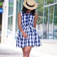 #browngirlslove Checker Print! Love this printed dress on @jadorefashion  #summeressential #fashion #style #brownbeauty