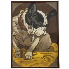 Dog by Marcello Dudovich | From a unique collection of antique and modern paintings at http://www.1stdibs.com/furniture/wall-decorations/paintings/