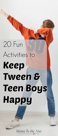 20 Fun Activities to Keep Tween and Teen Boys Happy Teen Boy Activities, Fun Activities To Do, Family Activities, Teen Fun, Teen Boys, Tween, Raising Teenagers, Parenting Teenagers, Toddler Behavior