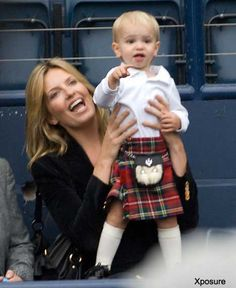 Rod Stewart's tiny tartan tot keeps up the family kilt-wearing tradition | Mail Online