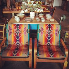 Mid century Pendleton chair set @ Beam & Anchor.
