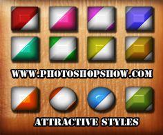 photoshop attractive styles download, gözalıcı pohotoshop sitilleri