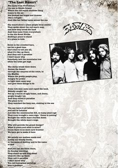 Eagles Songs Lyrics, Eagles Music, Great Song Lyrics, Eagles Band, Music Lyrics, Lyric Art, History Of The Eagles, Randy Meisner, Cowboys And Angels