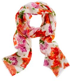 Printed wool scarf thestylecure.com