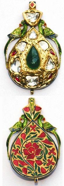 Bird Wih Paan Mughal jewelry