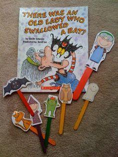Preschool Printables: Old Lady Who Swallowed A Bat Printable