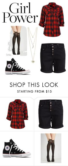 """""""Untitled #126"""" by kcatdee ❤ liked on Polyvore featuring Full Tilt, Object Collectors Item, Converse and T+C by Theodora & Callum"""