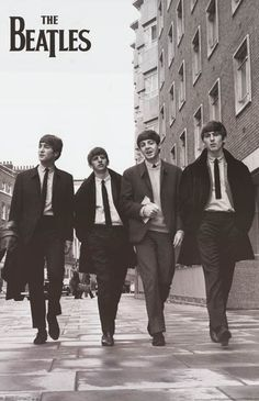 Beatles Taking a Stroll Lennon McCartney Music Poster 24x36