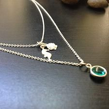 Mini Charms Sterling Silver Necklace - This model is for casual necklace - $18.00