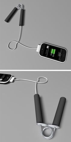 Work out your hands while charging your cell !