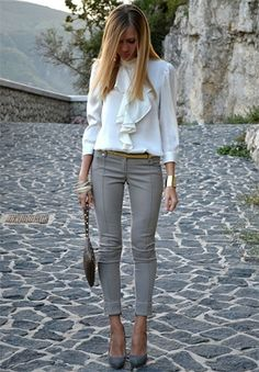 Ways to pair grey pants | #Fashion #Apparels