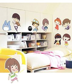 3D Selfadhesive Removable Cute CartoonBirds Play Football Vinyl Wall StickerMural Art Decals Decorator for Kids Nursery Room MJ8008 Japanese Anime236 X 354 *** Click image for more details. (Note:Amazon affiliate link) #WallStickersandMurals