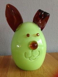 Villeroy & Boch bunny handgemaakt van glas groen