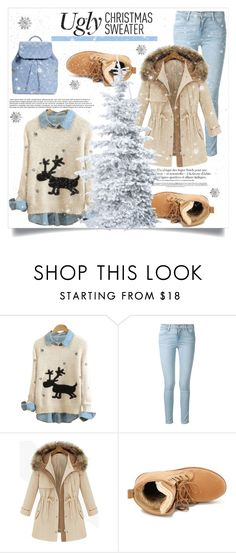 """""""Winter"""" by aida-banjic ❤ liked on Polyvore featuring Frame Denim, Vera Bradley and uglychristmassweater"""
