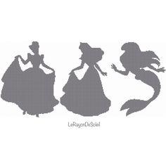 Cross stitch pattern Disney princesses BIGGER door LeRayonDeSoleil