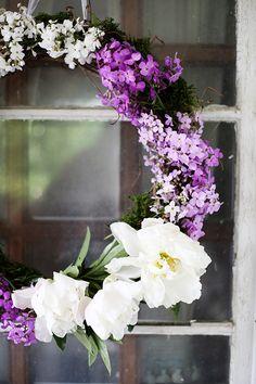 DIY Fresh Flower Wreath   Free People Blog #freepeople