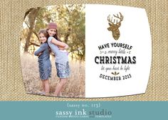 Let Your Heart be Light  Photo Christmas Card by SassyInkStudio, $12.00