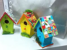 """Chic Hand Painted Birdhouse made to order 5 3/4T X 4""""W X2 3/4 D 1"""" Hole"""