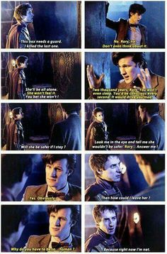 Rory & the Doctor on Amy in the Pandorica