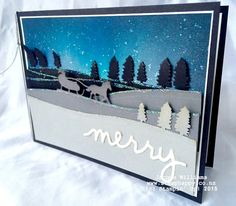 stampin up jingle all the way brayer rock salt technique sleigh ride edgelits www,stamphappy.co.nz