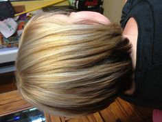 Blonde foils and blonde base with dark underneathr