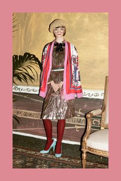 Patch denim, metallic accessories and cool berets define Pre-Fall 2016 for Gucci: