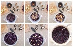 If there is one dish I have to make at Christmas it is this one, forget the sprouts, stuff the turkey (sorry I couldn't resist that gag), but for me Christmas wouldn't be the same without braised red cabbage. Spiced Red Cabbage, Braised Red Cabbage, Vegan Christmas, Christmas Pudding, Thanksgiving Recipes, Christmas Recipes, Mince Pies, Sugar And Spice, Easy Peasy