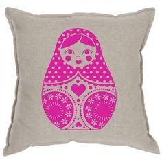 Pink Babushka Doll Cushion