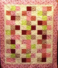 Sherbet, anyone?  A scrumptious quilt, stitched by Sandi Brett and quilted - with popsicles! by Linda Christensen.