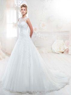 Vestido de novia corte evase