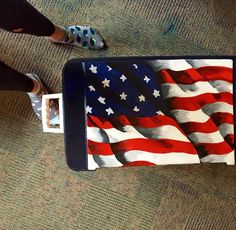 Cooler Painting American Flag