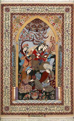 """Esfahan Persian Rug, Buy Handmade Esfahan Persian Rug 4' 9"""" x 7' 5"""", Authentic Persian Rug"""