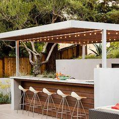 Terrasse couverte lodge cuisine été outdoor extérieur