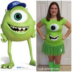 1f1705c4f192 Road Runner Girl  runDisney Costumes Revealed! Mike Wazowski costume  Halloween Running Costumes