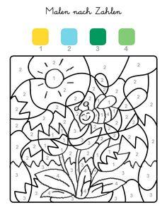 malen nach zahlen: frosch ausmalen zum ausmalen   colornumber   kindergarten portfolio