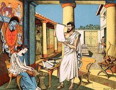 A rich man's house in ancient Greece.