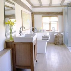 Modern country bathroom   Modern country bathrooms, Modern country ...