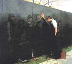 "A tribute to the Vietnam War. ""No event in American history is more misunderstood than the Vietnam. Soldado Universal, Reflection Art, Vietnam Veterans Memorial, American Soldiers, God Bless America, Before Us, Vietnam War, North Vietnam, Illustrations"